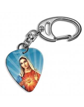 Maria plectrum sleutelhanger