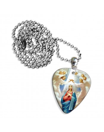 Virgin Mary necklace with...