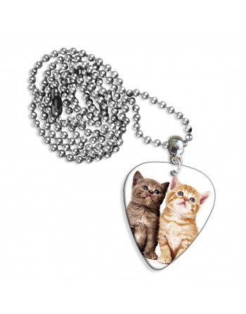 2 Sweet cat necklace with...