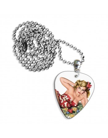 50's Pin Up necklace with pick