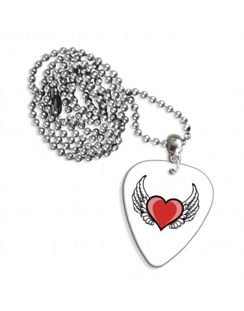 Heart with angel wings love...