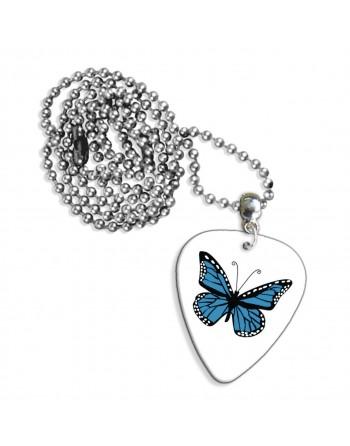 Blauwe vlinder ketting met...