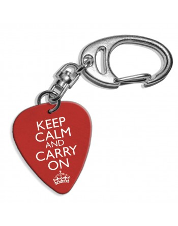 Keep Calm and Carry On plectrum sleutelhanger