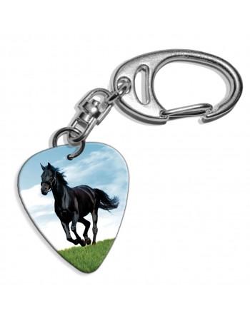Paard plectrum sleutelhanger