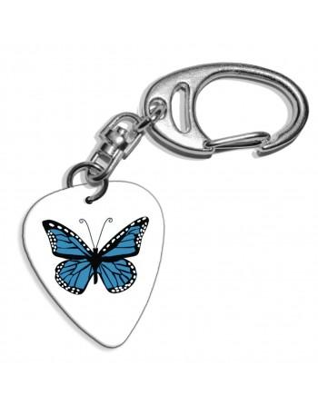 Blue butterfly pick key ring