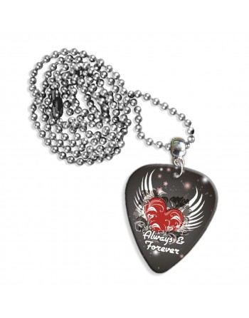 Pick necklace with the text...
