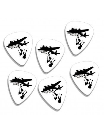 Guitar picks with the text...