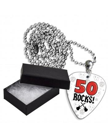 50 Rocks aluminium plectrum...