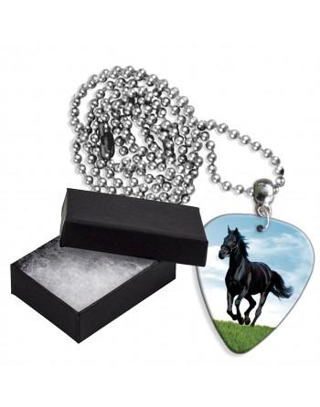 Paard aluminium plectrum...