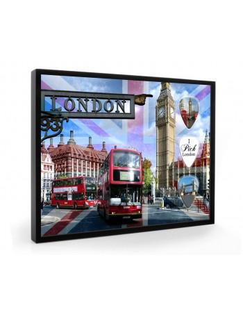 Londen plectrumdisplay...