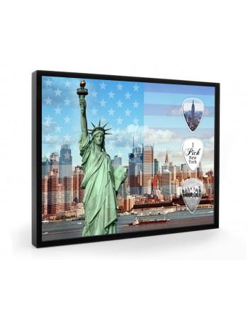 New York pick display framed