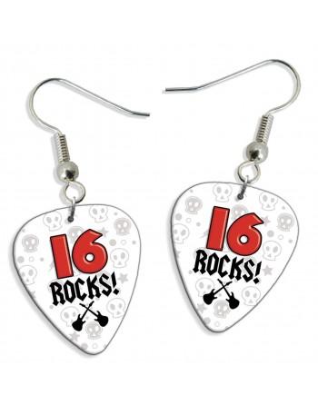 16 Rocks plectrum oorbellen
