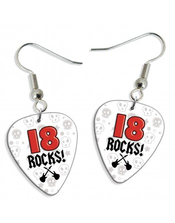 18 Rocks plectrum oorbellen