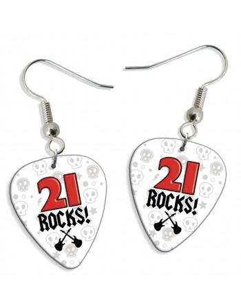 21 Rocks plectrum oorbellen