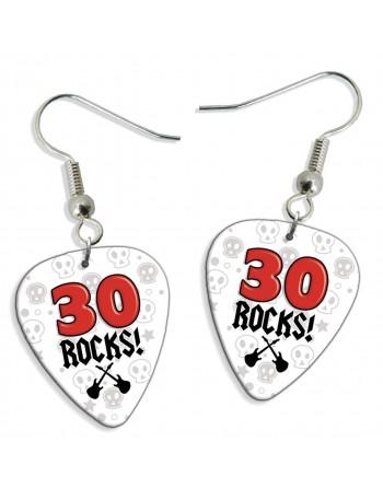 30 Rocks plectrum oorbellen