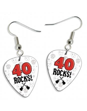 40 Rocks plectrum oorbellen