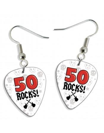 50 Rocks plectrum oorbellen