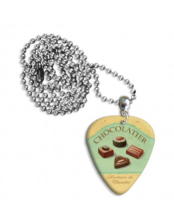 Chocolatier plectrum ketting