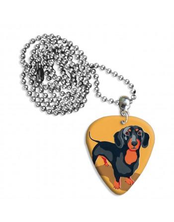Teckel hond plectrum ketting