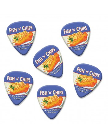 Fish and Chips plectrums