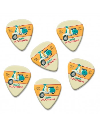 Retro Scooter plectrums
