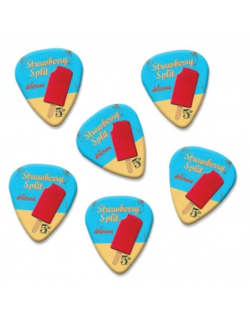 Strawberry Split plectrums