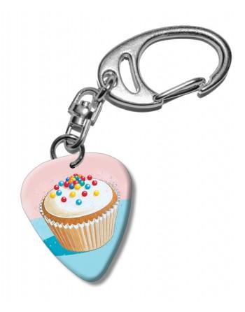 Cupcake plectrum sleutelhanger