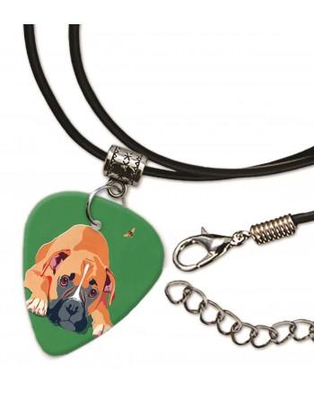 Boxer hond plectrum ketting