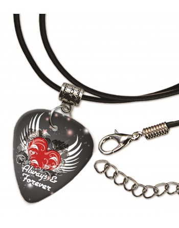 Always and Forever hart ketting met plectrum