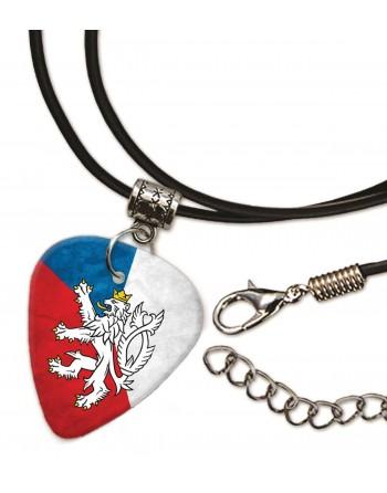 Tsjechische Republiek vlag ketting met plectrum