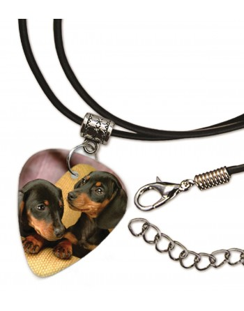 Teckel puppies ketting met plectrum
