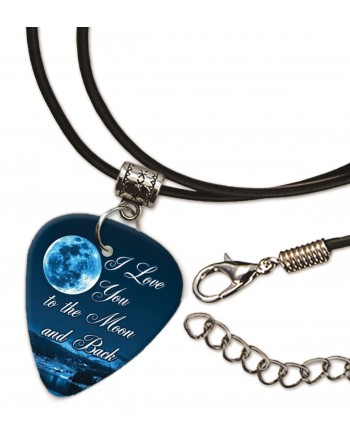 I Love You to the Moon and Back ketting met plectrum