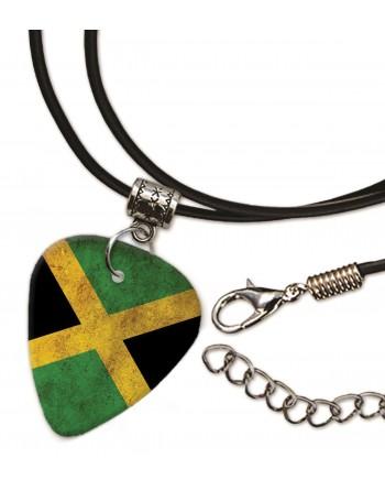 Jamaicaanse Grunge vlag ketting met plectrum