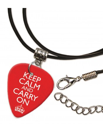 Keep Calm and Carry On ketting met plectrum