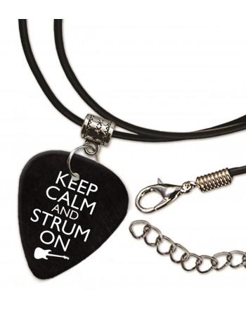 Keep Calm and Strum On ketting met plectrum