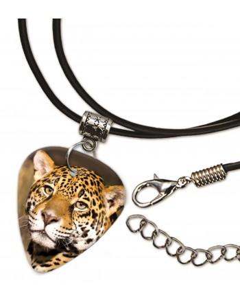 Kop van een luipaard ketting met plectrum