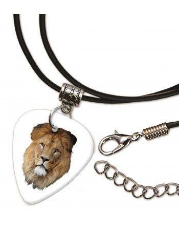 Kop van een leeuw ketting met plectrum