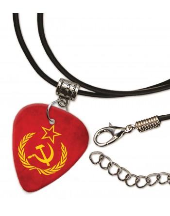 Sovjet Unie vlag met hamer en sikkel ketting met plectrum