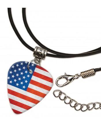 Amerikaanse Grunge vlag ketting met plectrum