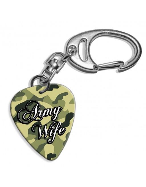 Plectrum sleutelhanger met de afbeelding van Army Wife