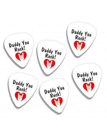 Plectrums met de afbeelding Daddy You Rock!