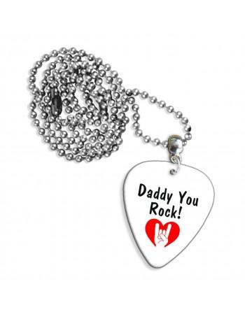 Daddy You Rock! ketting met plectrum