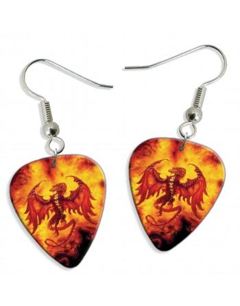 Dragon pick earrings