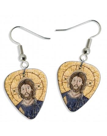 Jesus Christ pick earrings