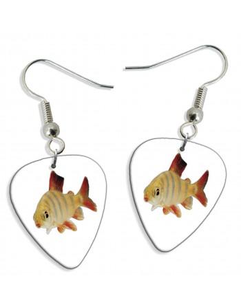 Goldfish pick earrings