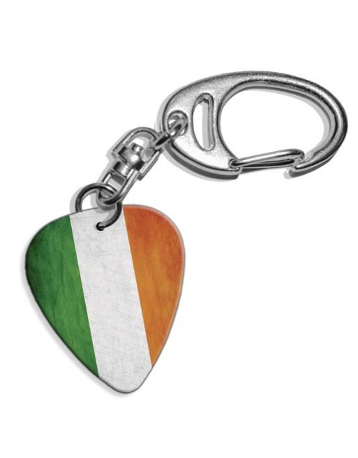 Plectrum sleutelhanger met de afbeelding van Ierse Grunge vlag