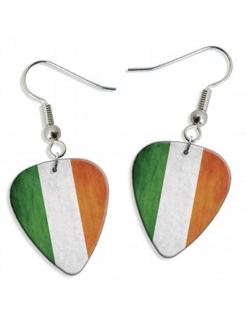 Ierse Grunge vlag plectrum oorbellen