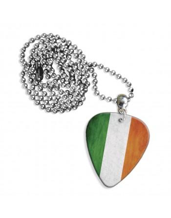 Ierse Grunge vlag ketting met plectrum