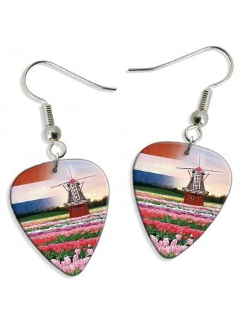 Dutch windmill pick earrings
