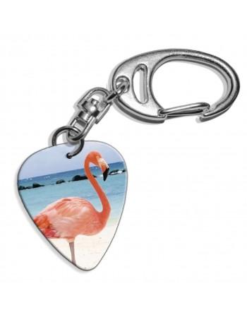 Plectrum sleutelhanger met de afbeelding van een Flamingo
